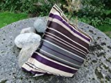 Doppler Hochwertiges Zierkissen von im Dessin Trend 9122, lila braun gestreift, mit Reißverschluß