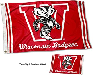 College Flags and Banners Co. Wisconsin Badgers Vault Throwback Vintage Double Sided Flag