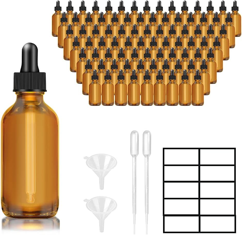 Max 54% OFF 1oz Dropper Bottles for Essential Lotusbtdt Price reduction Pack 30ml Oils 100