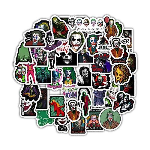 YZFCL Cartoon Clown Movie Graffiti Sticker Travel Box Refrigerator Motorcycle Helmet Waterproof Sticker 50 sheets