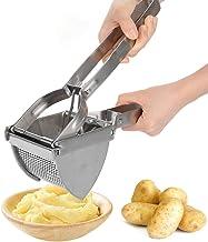 Aardappelpers Ricer, RVS Aardappelpuree Vlees Chopper Mincer Crusher Helper in de keuken, 28 x 8 x 10.5cm Zilver