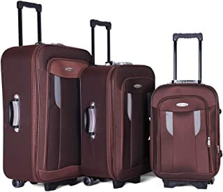 Trolley Travel Bags Set By Concord , 3 Pieces , 97301 , Coffee