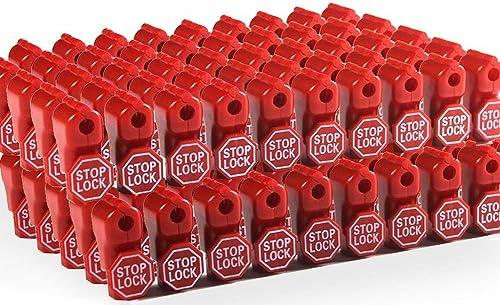 Cedmon Anti Sweep Theft Stop Lock 100Pcs 6mm Red Retail Shop Security Display Hook Lock
