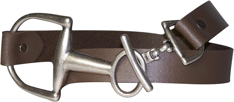 FRONHOFER Skinny waist belt 1.2' 3cm, affordable hip belt, stirrup buckle, Size waist size 35.5 IN L EU 90 cm, color Taupe grey