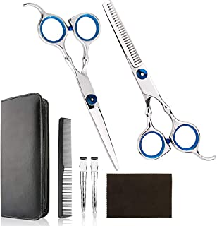 Professional Home Hair Cutting Kit - Quality Home Hair cutting Scissors Barber/Salon/Home Thinning Shears Kit with Comb an...