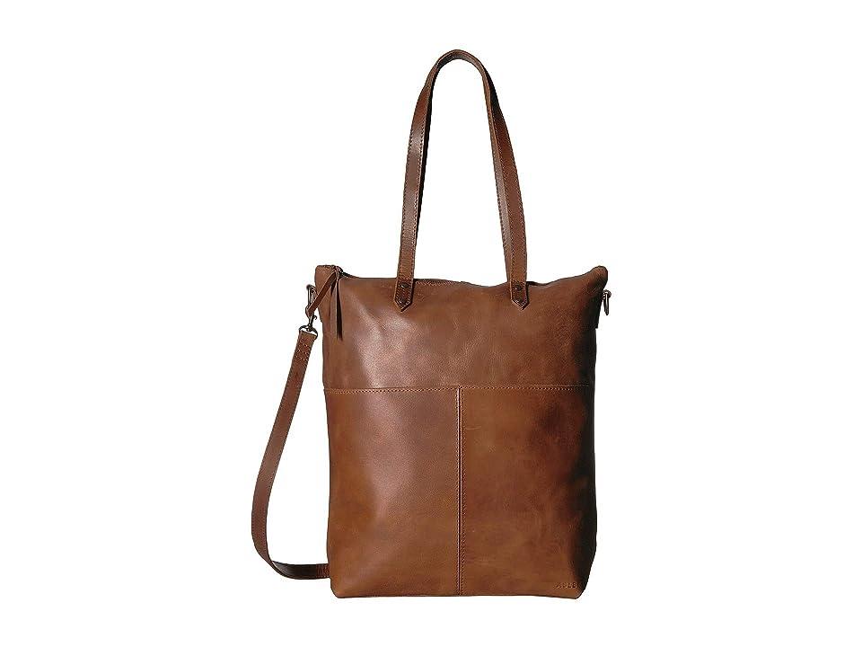 ABLE Chaltu Crossbody Tote (Chestnut) Cross Body Handbags