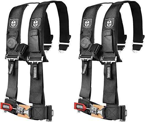 """Pro Armor A114220 Black 4 Point Harness 2"""" Straps, 2 Pack"""