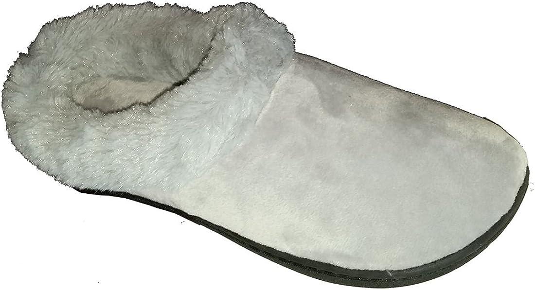 Dearfoams Women's Velour Clog Slipper with Faux Fur Trim