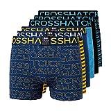 Crosshatch Gleasea - Calzoncillos para Hombre (6 Unidades) Azul -Vestido Azul XXL
