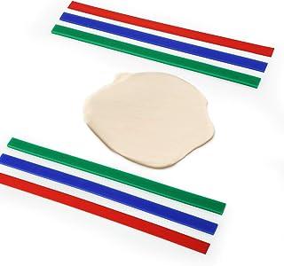 GWHOLE 6 PCS Silicone Measuring Dough Strip Rolling Strip Rolling Pin Guide Dough Guides Measuring Dough Thickness Strips,...