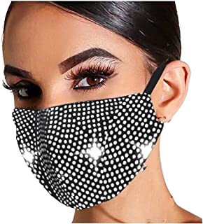Partito Viso Bandane, riutilizzabile Viso Bandane lavabile Viso tubo gioielli strass Masquerade masc collana per le donne ...