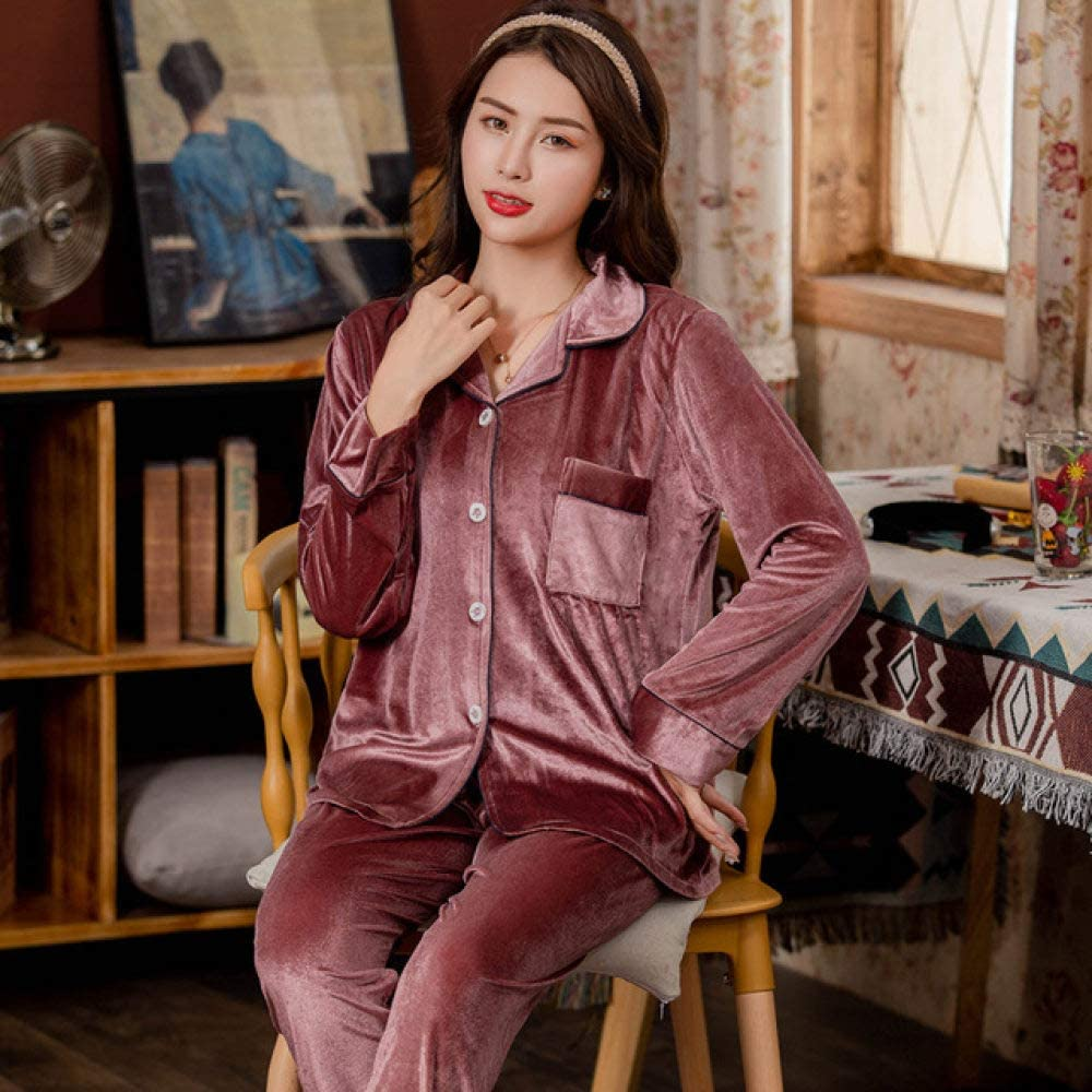 SDCVRE Pajama Omaha Mall Set Warm Pajamas Sets Clothes Outlet ☆ Free Shipping Home Lounge Women we