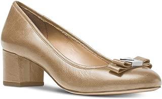 Michael Kors Women's Caroline Mid Pump Leather Dark Khaki Size 7 M