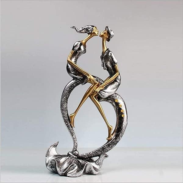 XOBULLO Modern Resin Creative Love Couple Statue Sculpture Home Decoration Crafts Best Gifts To Friend Figure Figurine