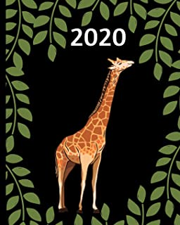 2020: Giraffe Planner, 1-Year Daily, Weekly and Monthly Organizer With Calendar, Gifts For Giraffe Lovers, Women, Men, Adu...