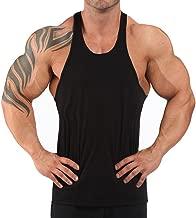 Alivegear Men's Stringer Bodybuilding Gym Tank Tops Y Back Cotton 2 cm Shoulder Strap