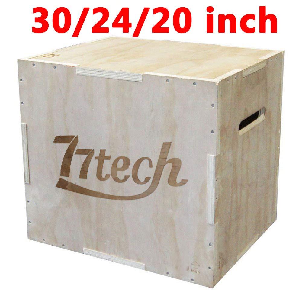 77tech 3 en 1 Madera pliométrico caja ejercicio equipos Crossfit Saltar de madera Puzzle Plyo caja