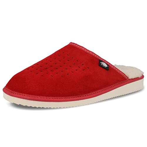 f31b71e5300a FOOTHUGS Womens Suede Mule Slippers with Natural Wool Lining Size 4