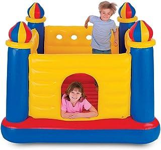 Nuevo Versión mejorada de trampolín inflable para niños de interior Juguetes inflables, casa pequeña cama para saltar en el castillo jardín de infantes piscina marina para niños 175*175*135cm