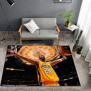 Tritow USA NBA Basketball Tapis NBA Lakers Kobe Salon Tapis antidérapant Facile à nettoyer Tapis de zone d'impression 3D T...