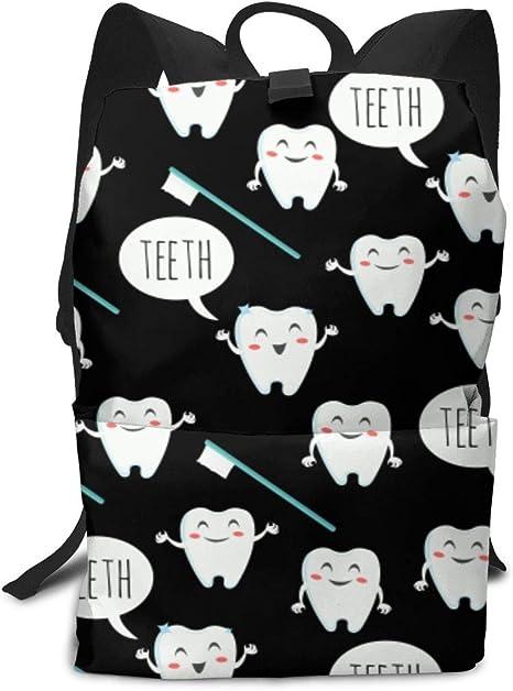 DoubleHappy White Shark Pattern Backpack Bookbag Travel Outdoor Daypack Laptop Bag Shoulders Bag Wallet for Adults