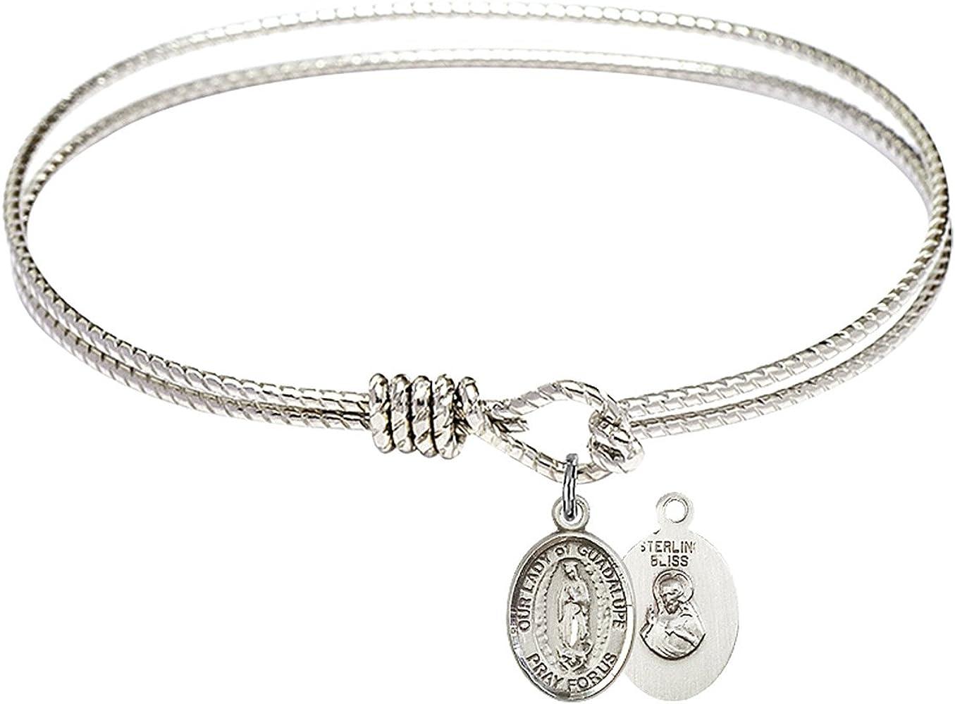 Bonyak Jewelry Oval Eye Max 65% OFF Hook Bangle Our Bracelet w store Lady of Guada