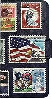 コズミックブルー 装飾雑貨(ファッション小物) USA切手 iPhone7/8 ケース 手帳型 i7-USSP-1077