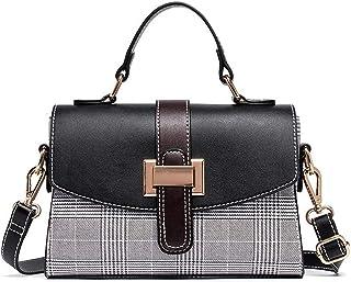 Umhängetasche für Damen Leder Wasserdicht Retro Fashion Handtasche Klein