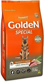 Ração Golden Special Sabor Frango e Carne para Cães Adultos, 15kg Premier Pet Para Todas Grande Adulto,