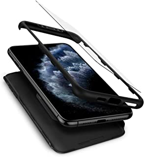 Spigen Thin Fit 360 Designed for Apple iPhone 11 Pro Max Case (2019) Screen Protector Included - Black