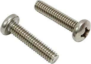 Hinge Outlet Stainless Steel Machine Screws for Door Hinges 24 Pack Highly Rust Resistant 10-24 Thread x 1//2 Length