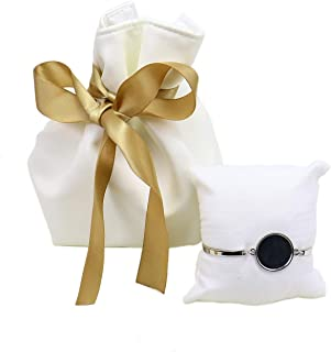 Monrocco Velvet Leather Drawstring Bags Jewelry Pouch Drawstring Bags with White Pillow for Wedding or Party Decorations Party DIY Arts