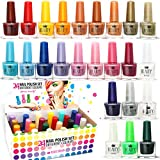 Set di 24 Smalti Per Unghie 24 Diversi Colori Brillanti Pacco Regalo 5 ml (Set A)...