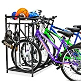 Bike Storage Rack for Garage, 3 Bicycle Floor Parking Stand, Free Standing Bike...