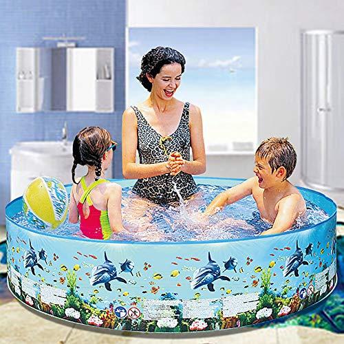 TTYUIO Planschbecken Hartschale, Riesiger Runder Garten Schwimmbecken Für Kinder Erwachsene Spaß Im Freien Patio Decking Beach (186 * 40cm