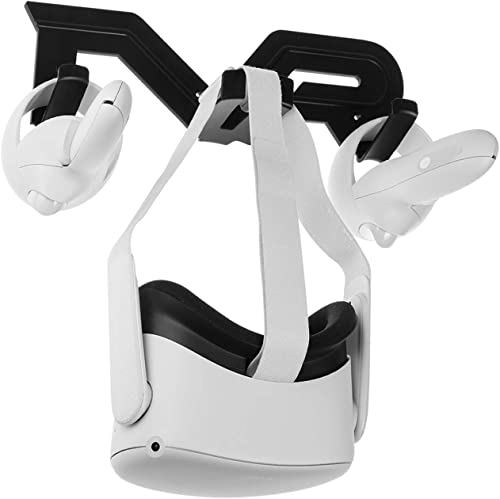 (1 Set) Orzero VR Wall Mount Stand Compatible for Oculus Quest 2, Oculus Quest, Oculus Rift, Oculus Rift S, Valve Ind...