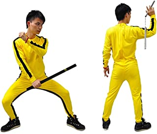ZooBoo Yellow Martial Arts Jumpsuit - Halloween Fighting Movie Film Costume Outfit Romper Tracksuit Suit Sportswear for Men and Women - Yellow