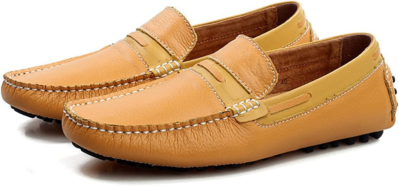 Shufang-schuhe 2018 Herren Mokassins Schuhe, Mens Driving Loafers Manuelle Nähen Spleiß Vamp Penny Stiefel Mokassins Rubber Studs Sohle (Farbe   Braun, Größe   38 EU)  | Exquisite Verarbeitung