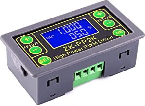 PWM Signal Generator 8A Pulse Driver LCD Display Dual Mode PWM Pulse Frequency Duty Cycle Adjustable Square Rectangular Wave Module for Motor Speed Lamp Brightness Adjustment