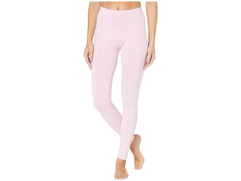 PUMA Classics Logo T7 Leggings (Pale Pink) Women
