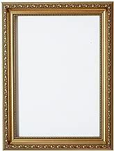 A2 - Gold - Bilderrahmen Verzierungen im Shabby Chic/Foto/Posterrahmen mit Plexiglas aus Styrol für hohe Klarheit & MDF Rückwand