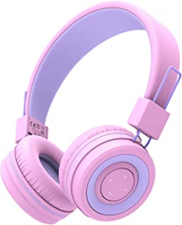 iClever BTH02 Kids Headphones, Kids Wireless Headphones with MIC, 22H Playtime, Bluetooth 5.0 & Stereo Sound, Foldable, Ad...