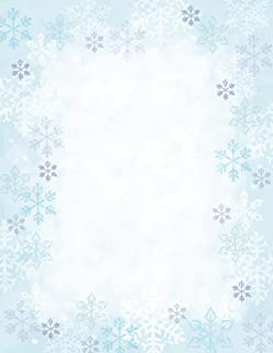 Great Papers! Blue Flakes Letterhead Paper, 8 1/2
