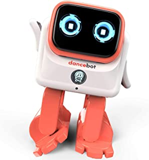 CHOVEIN Kids Toys Dancing Robot for Boys and Girls, Educational Dancing Robot Toys for Kids with Stereo Bluetooth Speakers, Rechargeable Dance Robot Follow Music Beats Rhythm, All Age Children - Orang