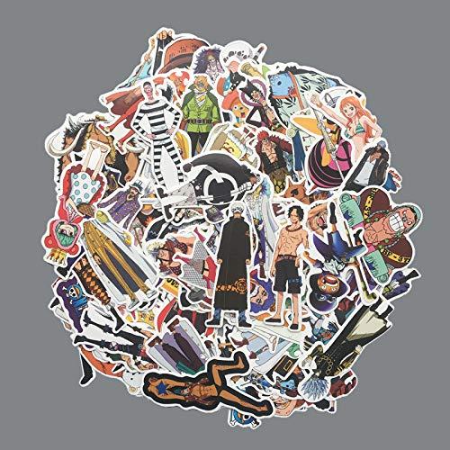 Anime Stickers voor Snowboard Travel Case Laptop Ps4 Gitaar Nami Zoro Waterdichte Decal 75 stks/partij