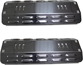 Stainless Steel Heat Plates (2-Pack) For Dyna-Glo DGP350NP, Master Forge MFA350BNP, MFA350CNP, MFA350BNN (Dims: 14 7/8