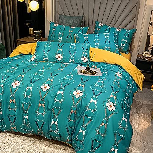 Funda De EdredóN Para Cama Individual,60 Ropa de cama de seda, una variedad de colores hermosos edredones suaves y cómodos, adecuados para habitaciones de dormitorio.-B_1,8 m de cama (4pcs)