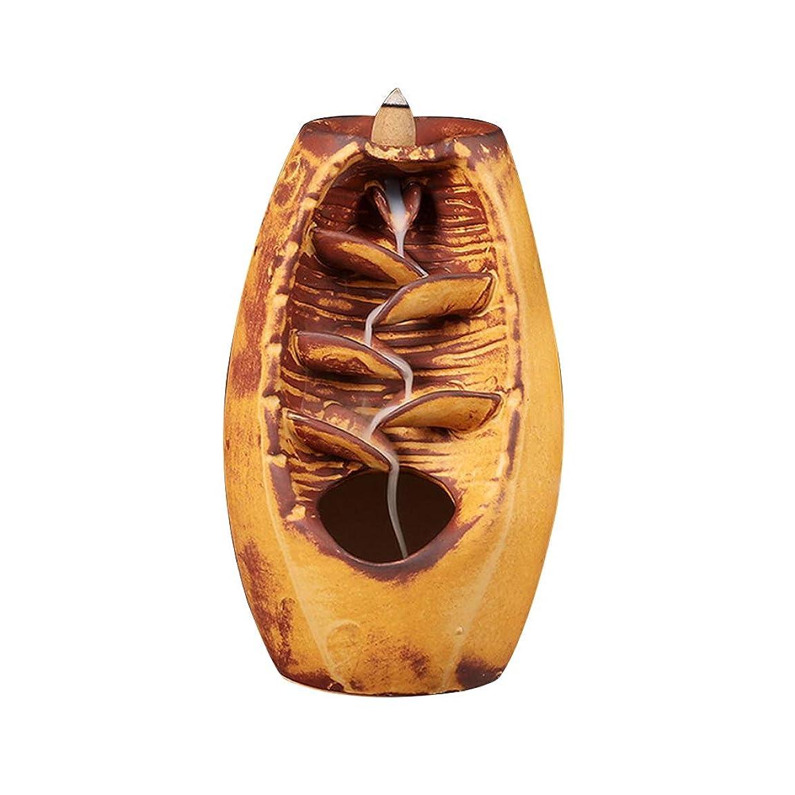 パック一定呼吸Vosarea 逆流香バーナー滝香ホルダーアロマ飾り仏教用品(金)