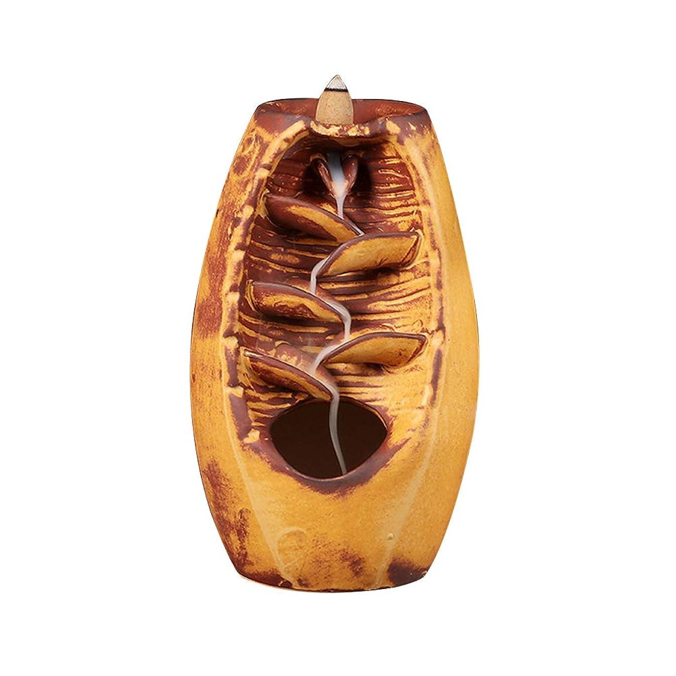 意欲カップオーナーVosarea 逆流香バーナー滝香ホルダーアロマ飾り仏教用品(金)