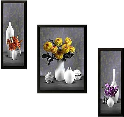 SAF Extra Large Floral Set of 3 Digital Reprint 28.5 inch x 19.5 inch Painting (SALLL7478) PrintSA7478